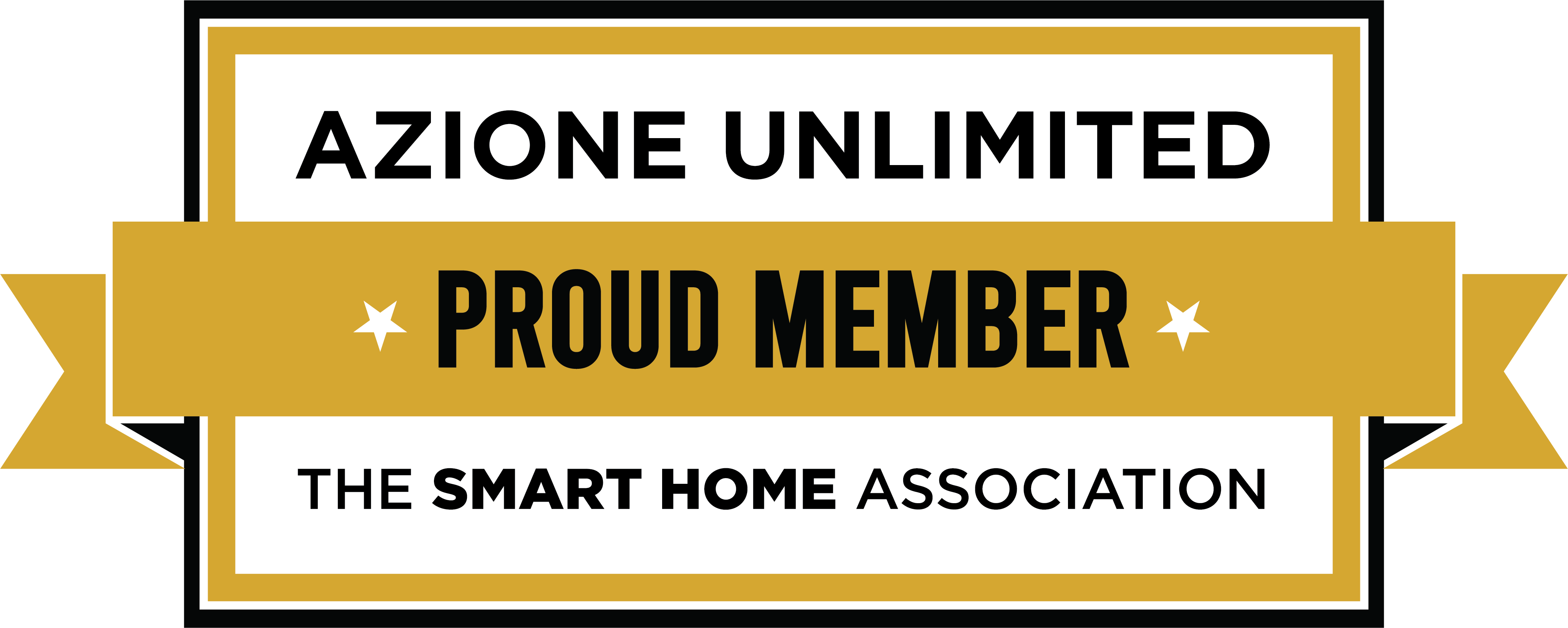 Azione Proud Member Logo Gold Banner
